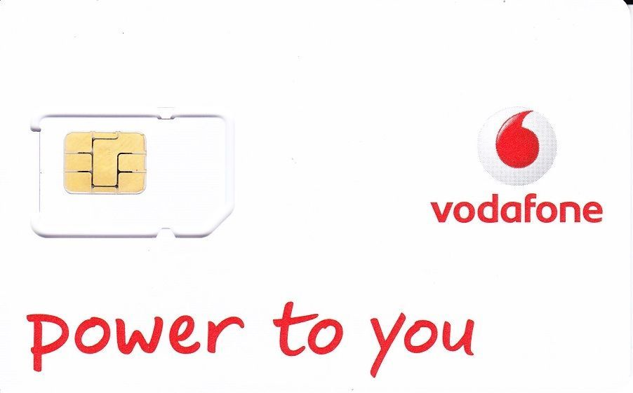 NEW UK Vodafone Prepaid Pay As You Go Sim Card, Good for