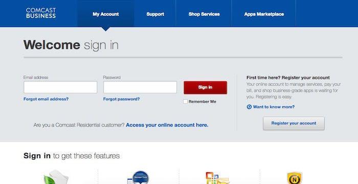 Comcast Business Email Login Page URL Comcast business