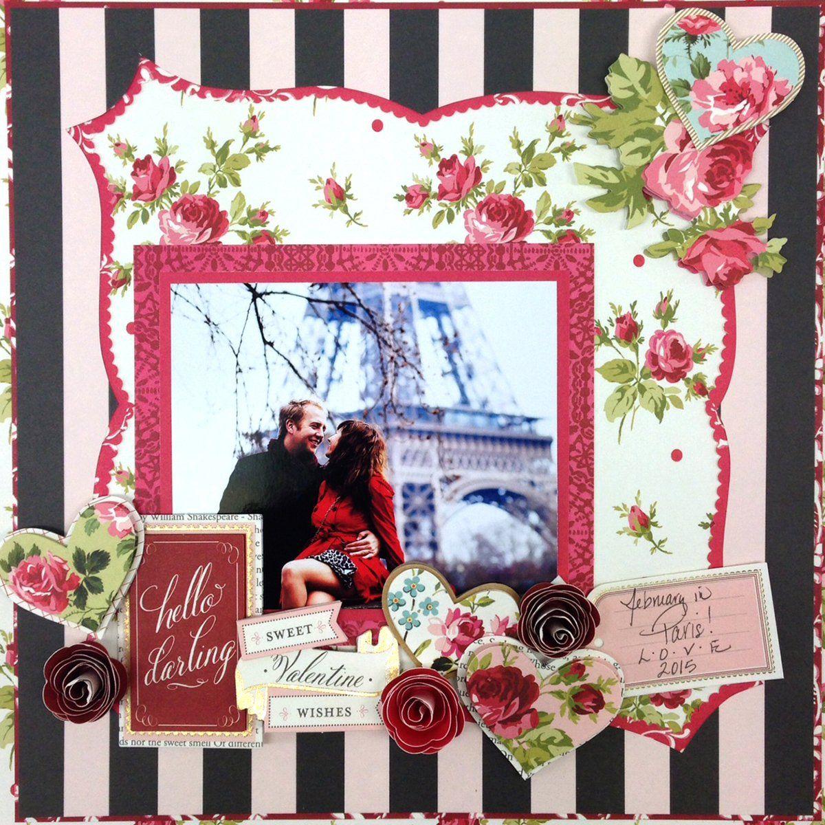Juliet scrapbook ideas - Anna Griffin Juliet Papercrafting Kit Bursting With Lush Flowers Rich Damasks And Darling Hearts Scrapbooking Valentine Layoutsgrandchildren