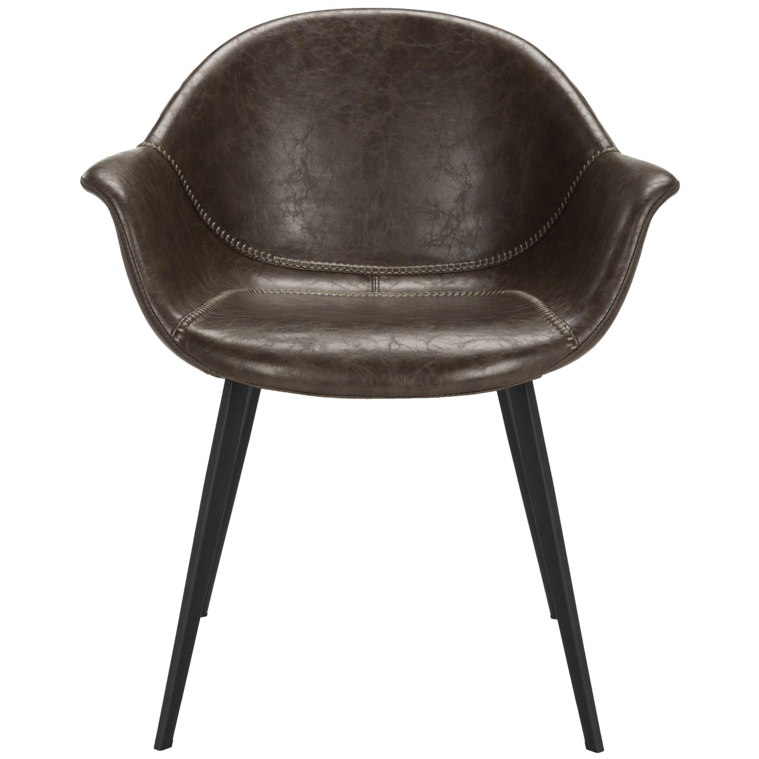 Outstanding Safavieh Dublin Mid Century Modern Leather Dining Tub Creativecarmelina Interior Chair Design Creativecarmelinacom