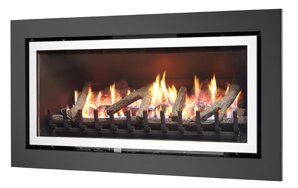 Mystique 8000l Inbuilt Gas Log Fire Illusion Gas Log Fires Gas