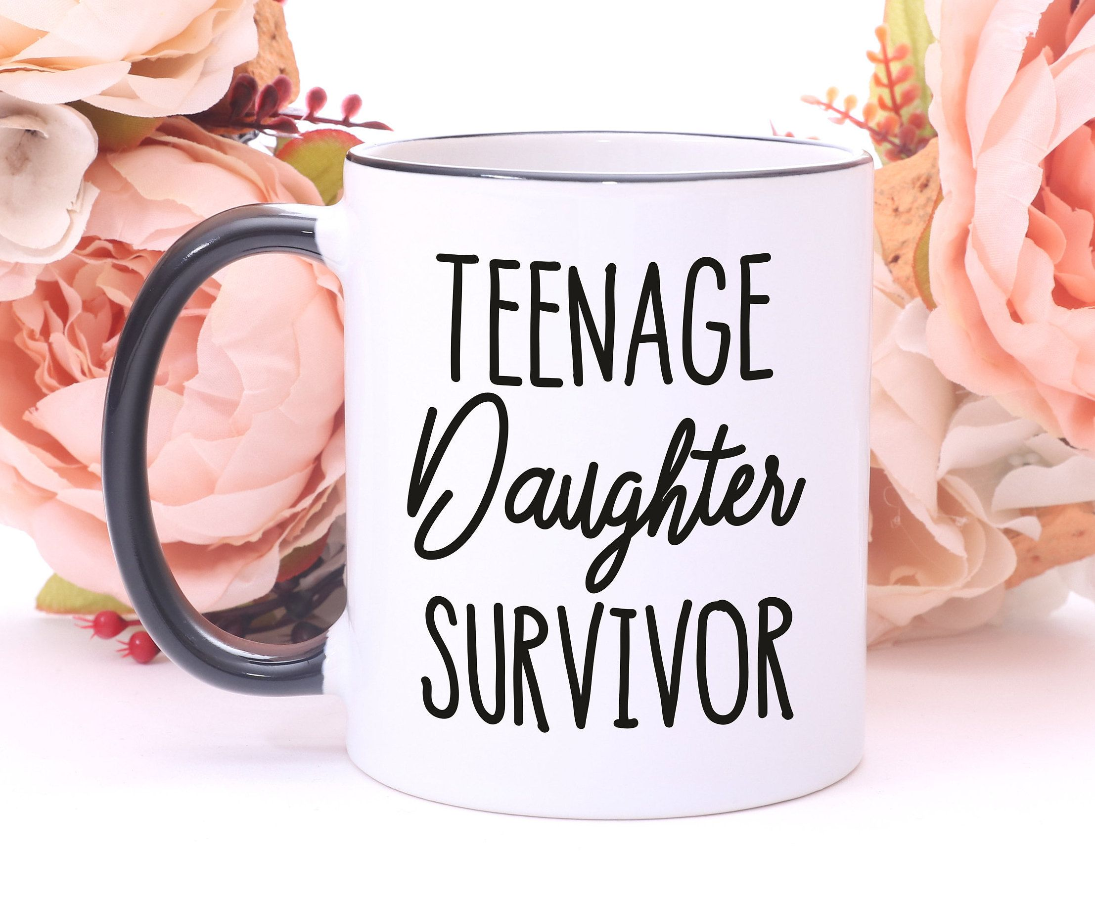 Teenage Daughter Survivor MugDaddy GiftsDad Birthday GiftFather GiftsGift From DaughterDad MugGift For DadFathers Day Mug By Mhuglife On