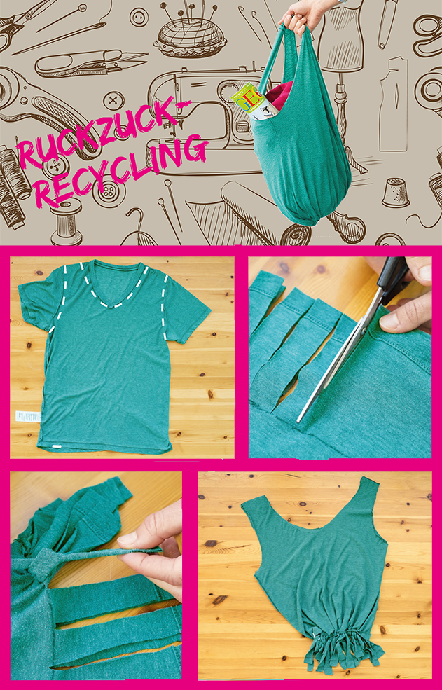 Upcycling Tasche Aus T Shirt Basteln Upcycling Upcycle Sewing