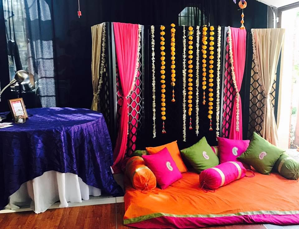 Asian Mehndi Party : Sangeet! for an indian wedding soiree! a pre party set up