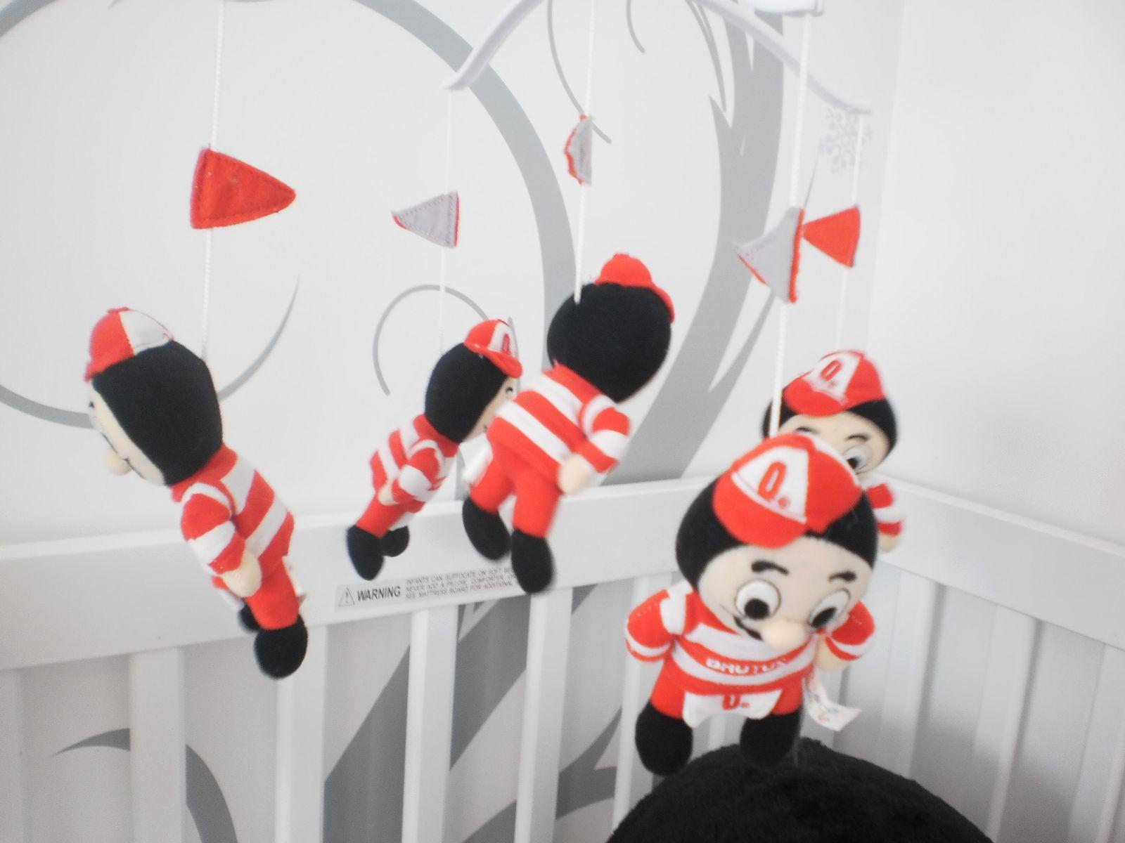 Baby cribs columbus ohio - Brutus Buckeye Baby Crib Mobile From Aven S Room O H I O Go Bucks
