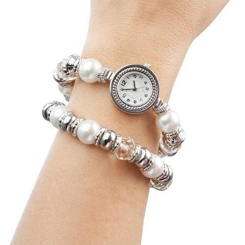 28c5c25450a9 pulsera perlas y reloj