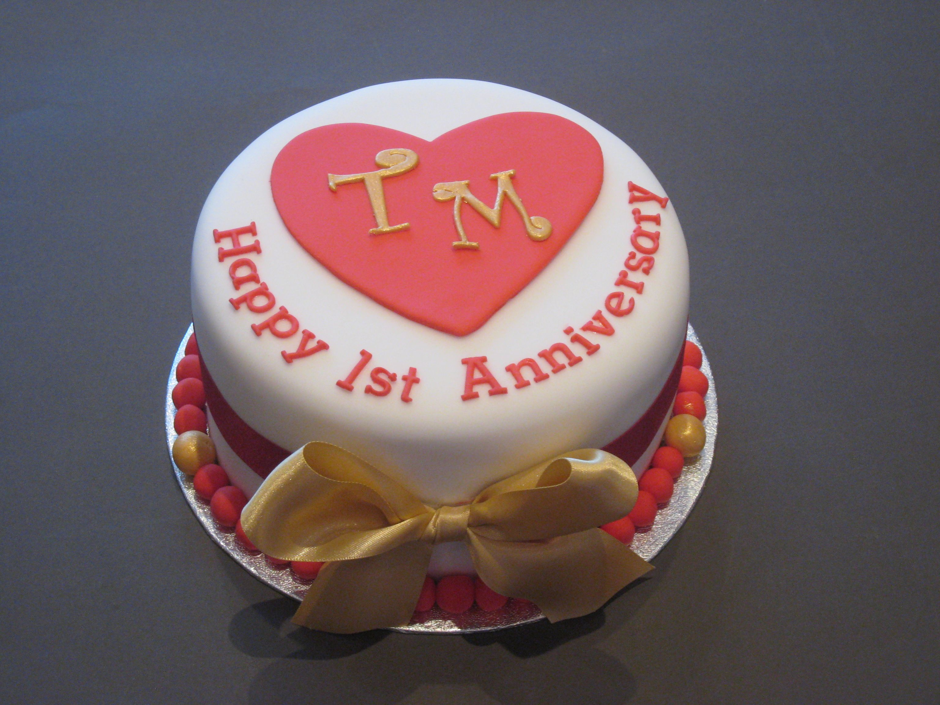 1st Wedding Anniversary Cake Designs