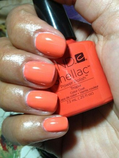 Tropix Layered Over Cream Puff Shellac Colors Gel Nail Colors