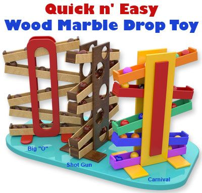 Quick N Easy Wood Marble Drop Toy Plan Set Wood