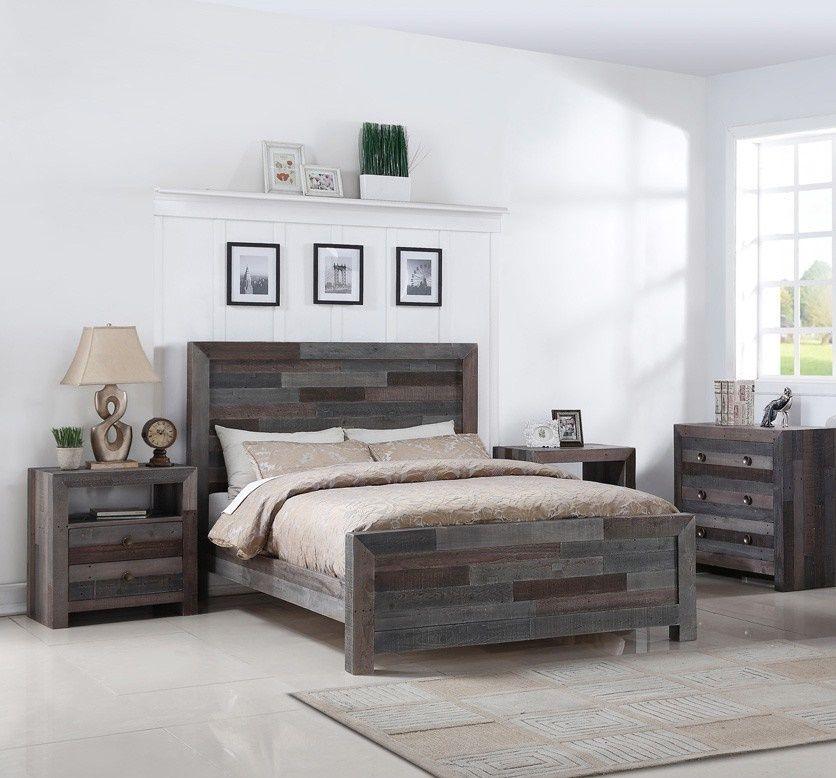 Angora Reclaimed Wood Queen Size Platform Bed   Pinterest