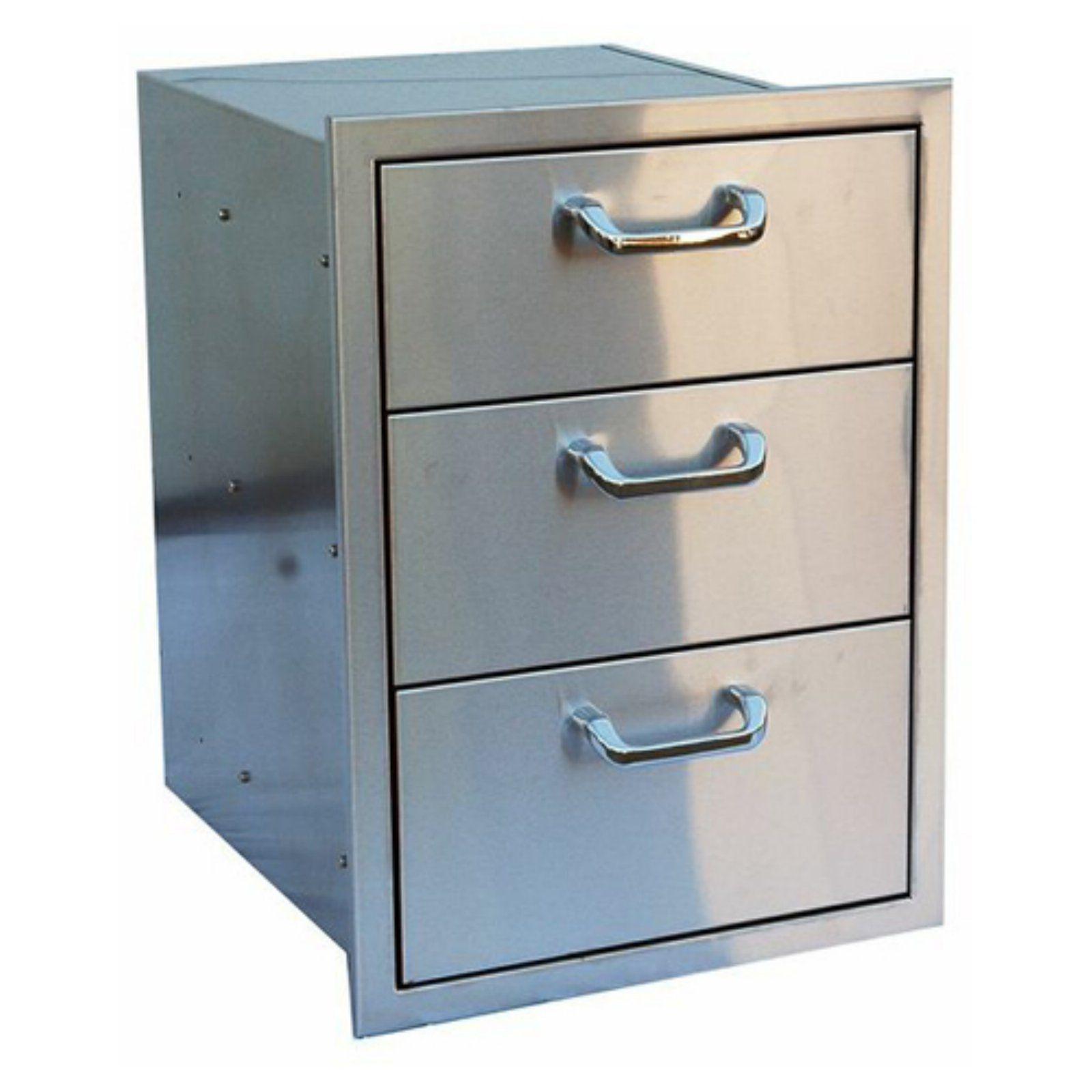 Outdoor Greatroom Stainless Steel Triple Drawer Stainless Steel Cabinets Outdoor Kitchen Cabinets Steel