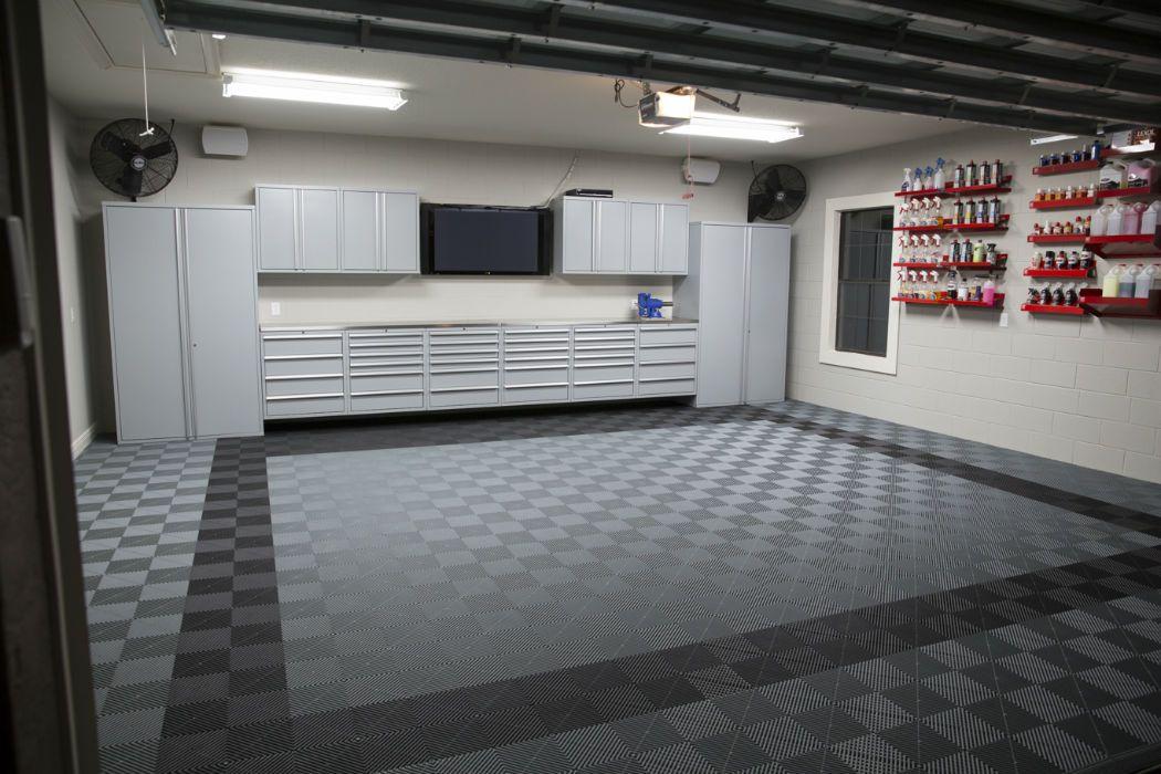 Stylish Modular Floors Tiles And Garage Flooring Garage