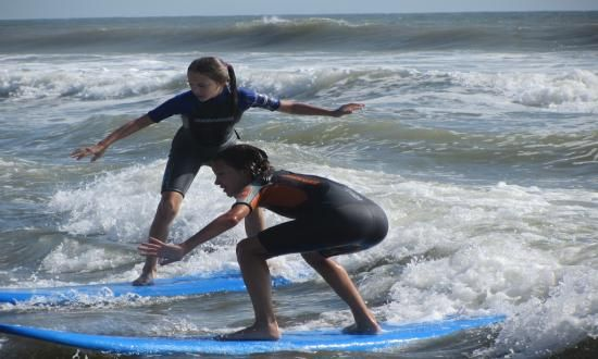 Surfing Lessons By Malibu's Surf Shop 410-289-3000 | Ocean