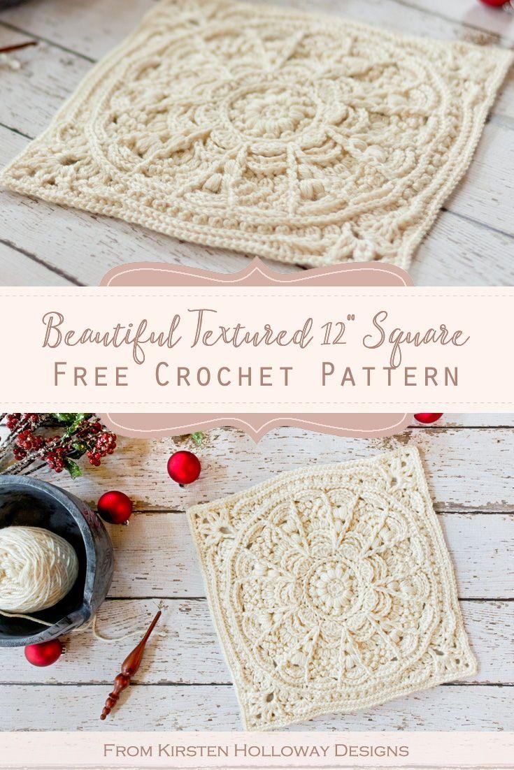 Free Crochet Granny Square Pattern: Winter Opulence