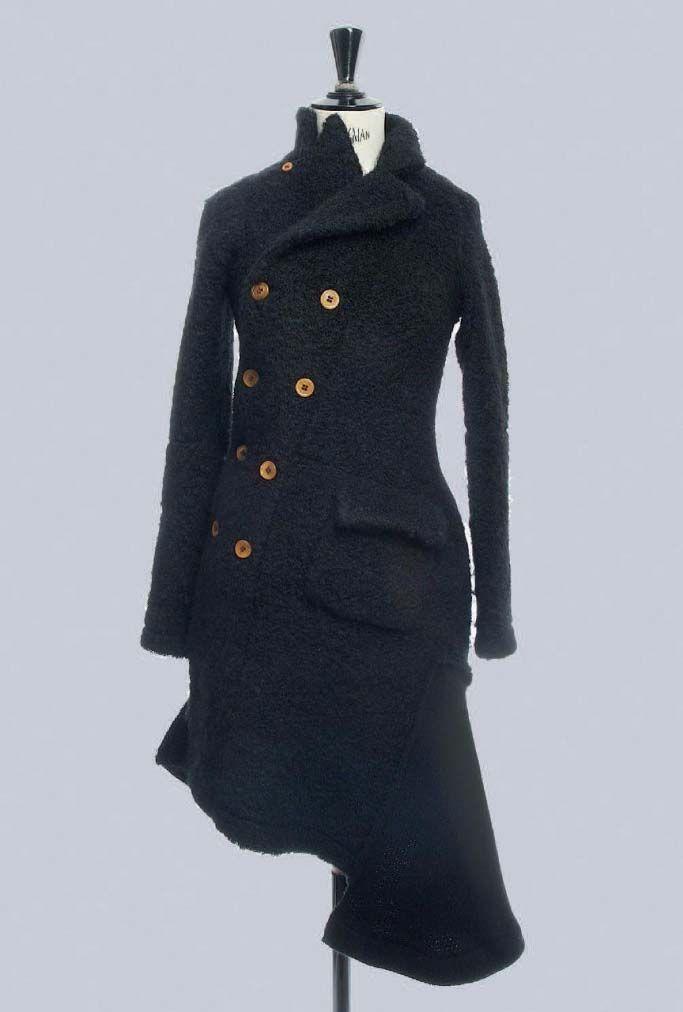 COMME DES GARCONS AW 2002 black wool coat