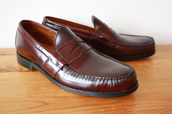 f04f4b2630173 Barrie Ltd Booters Oxblood Penny Loafers Vintage Mens Size 11 B Near ...