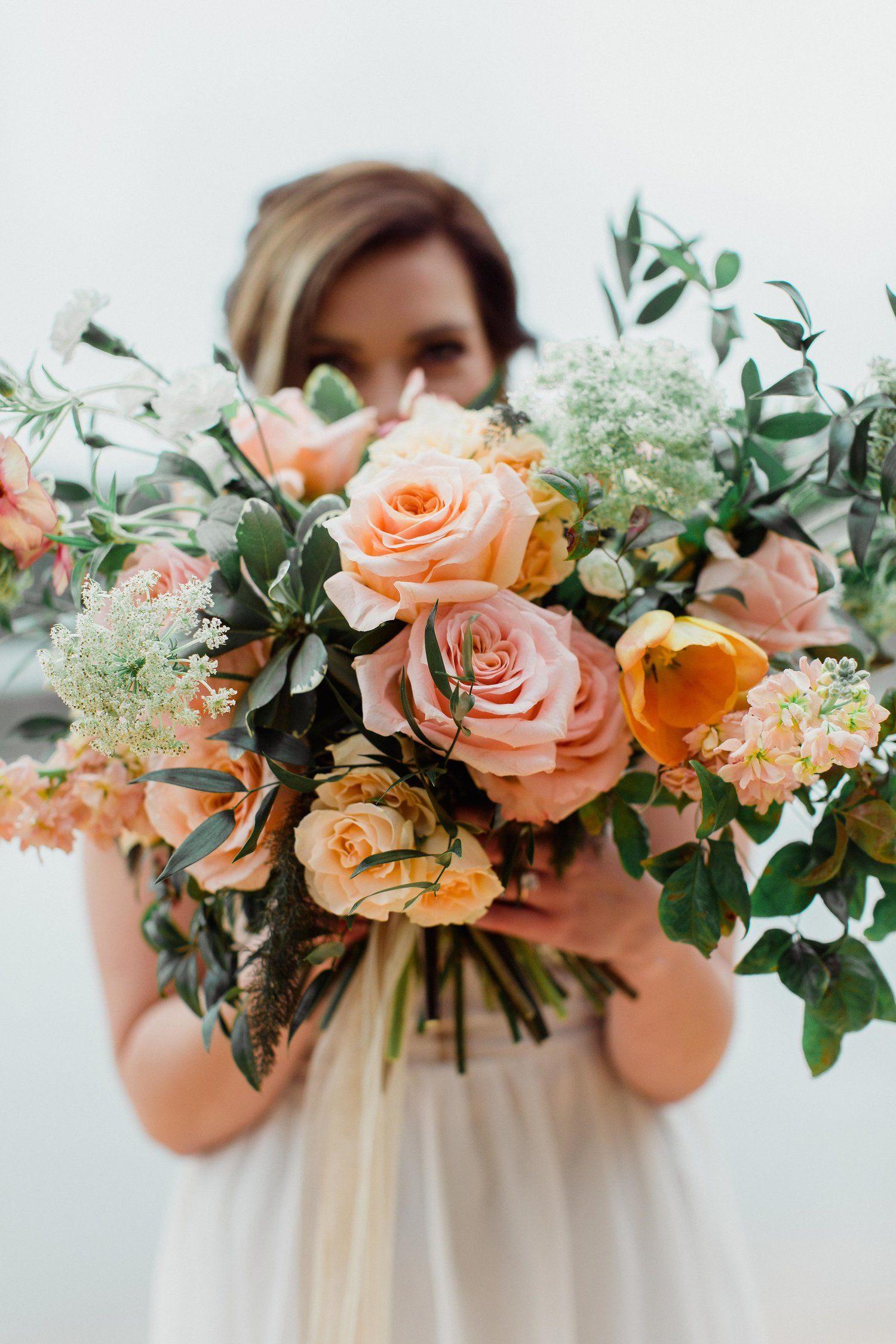 Moody Boho Wedding Flower Bouquet Raleigh And Durham Nc Wedding Florist Creates Moody Boho Peach Wedding Flowers Boho Wedding Flowers Fall Wedding Flowers