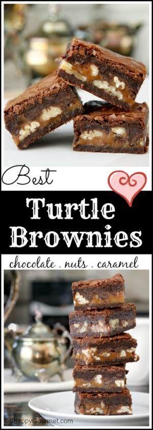 Best Turtle Brownies Recipe - Snappy Gourmet