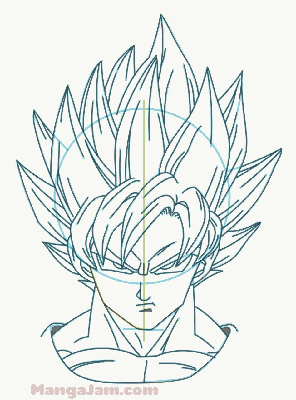 How To Draw Super Saiyan Goku From Dragon Ball Mangajam Com Goku Drawing Dragon Drawing Dragon Ball Artwork