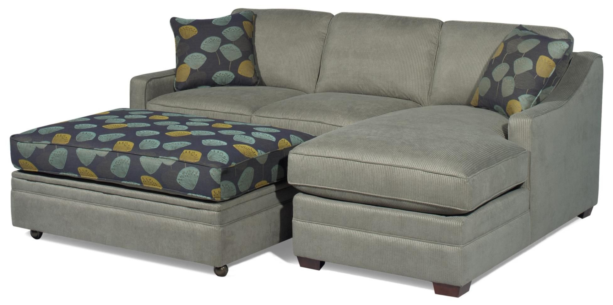 3 sided sectional sofa modern retro customizable 2-piece with raf chaise by ...
