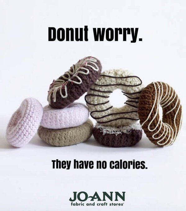 Donut worry, they have no calories! | Craft Quote | Donut Quotes | I love Donuts