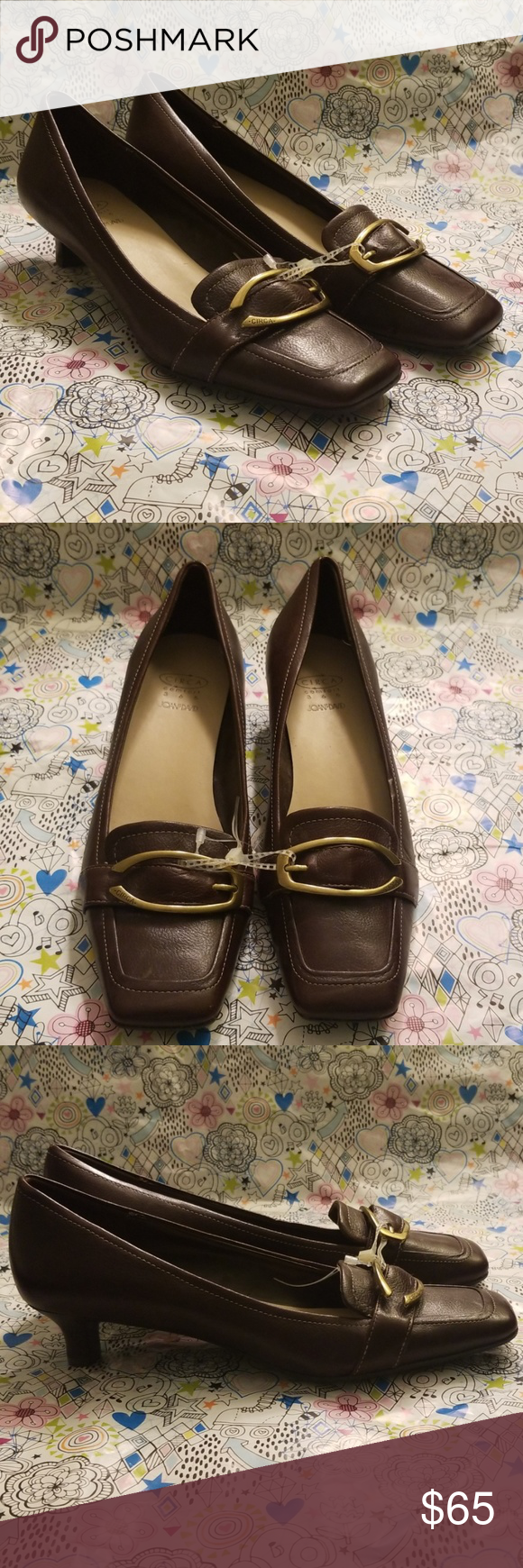 current shoe trend AUTH JOAN amp; DAVID CIRCA 365 COMFORT SHOES SZ 7.5 Authentic Joan amp; David Circa 365 Comfort shoes. They are brown leather with a beautiful brass buckle. There is nice stitching detail throughout. Womens Size 7.5. Brand New with Tags. Joan amp; David Shoes