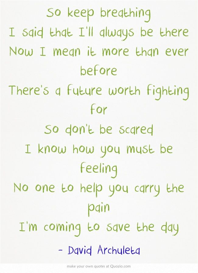 Lyric lyrics for a girl worth fighting for : Save The Day