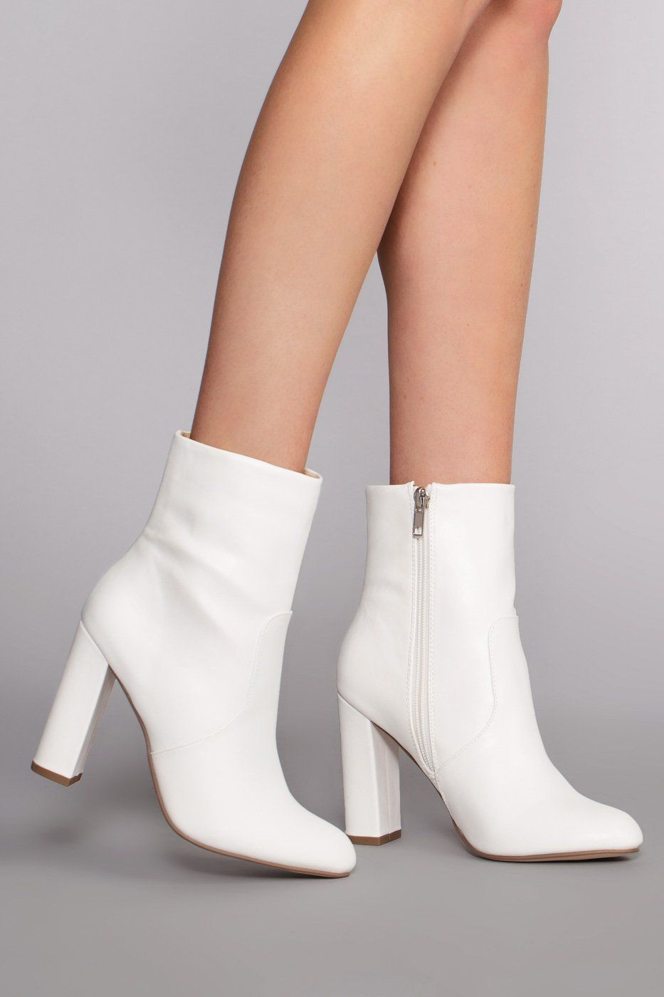 f6c3737988 Twiggy Booties - White | Need More Shoes in 2019 | Shoe boots, White ...