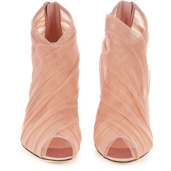 Dolce & Gabbana open Pleated tulle open Gabbana toe ankle Botas (1)  liked 034146