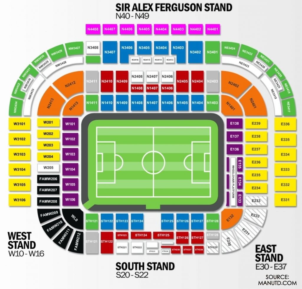 Manchester United Seating Plan In 2020 Seating Plan Old Trafford Wembley
