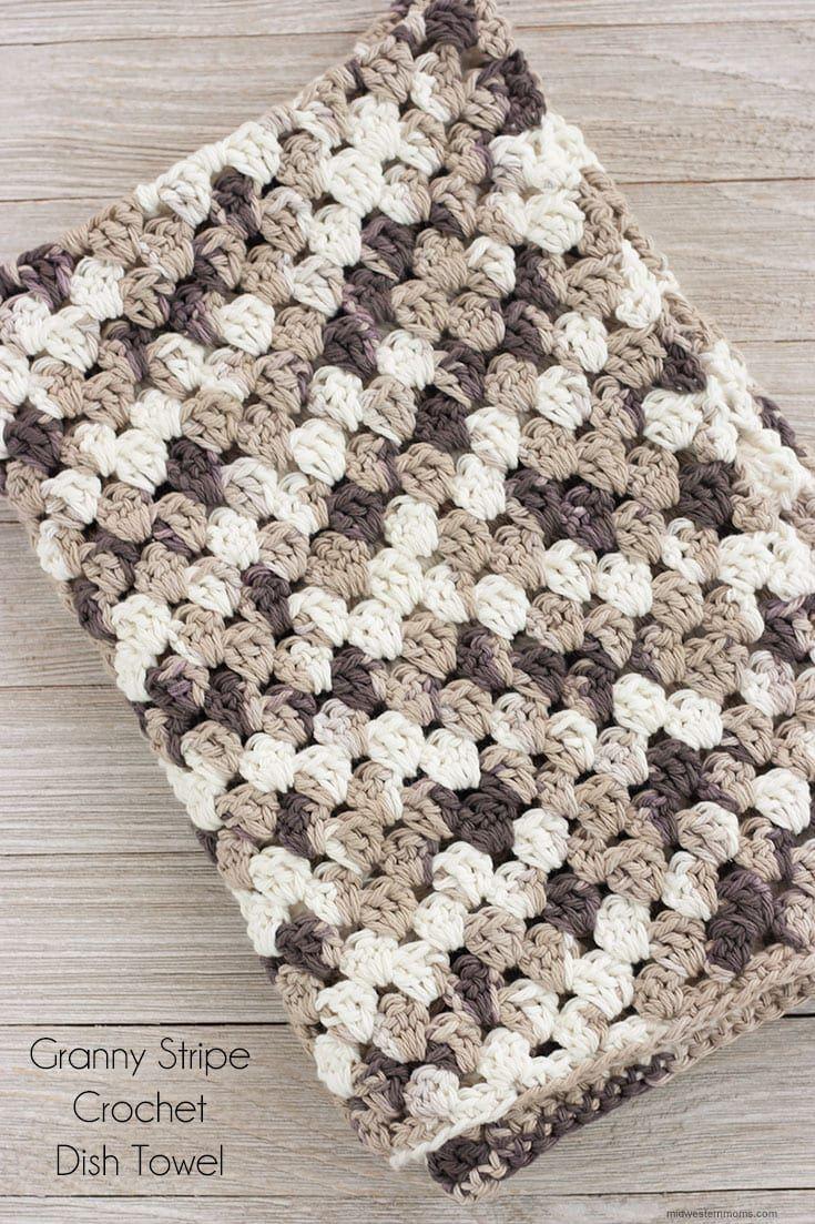 Granny Stripe Crochet Dish Towel Pattern | Pinterest | Häkeln