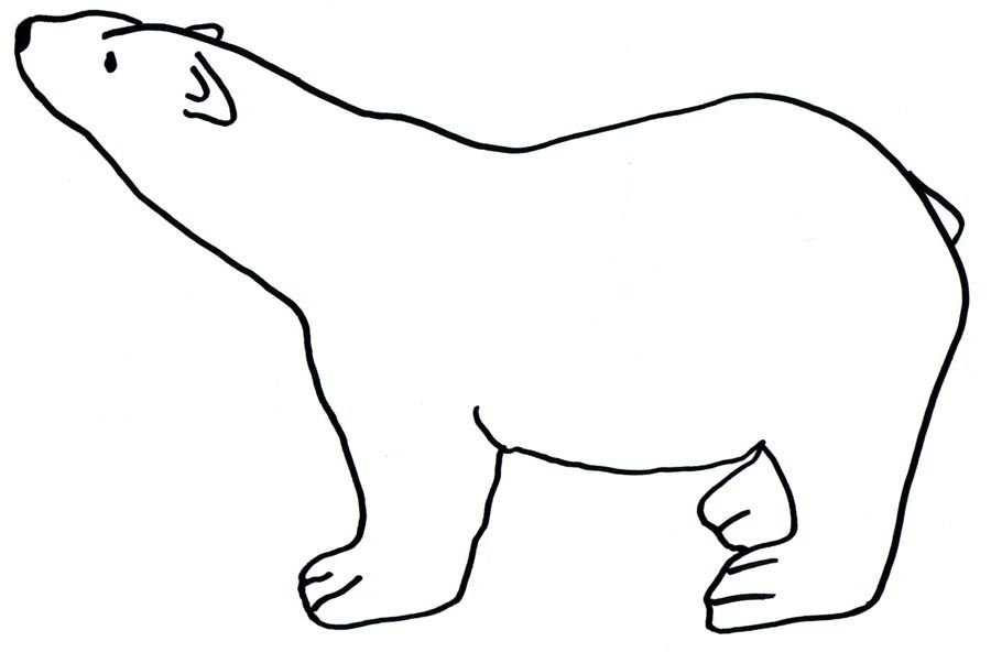 polar bear coloring page 3 900x592 - Baby Arctic Animals Coloring Pages