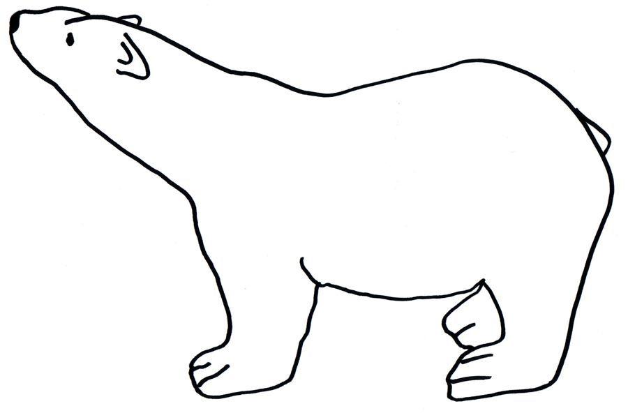Polar Bear Coloring 3 Jpg 900 592 Bear Coloring Pages Polar Bear Coloring Page Polar Bear Drawing