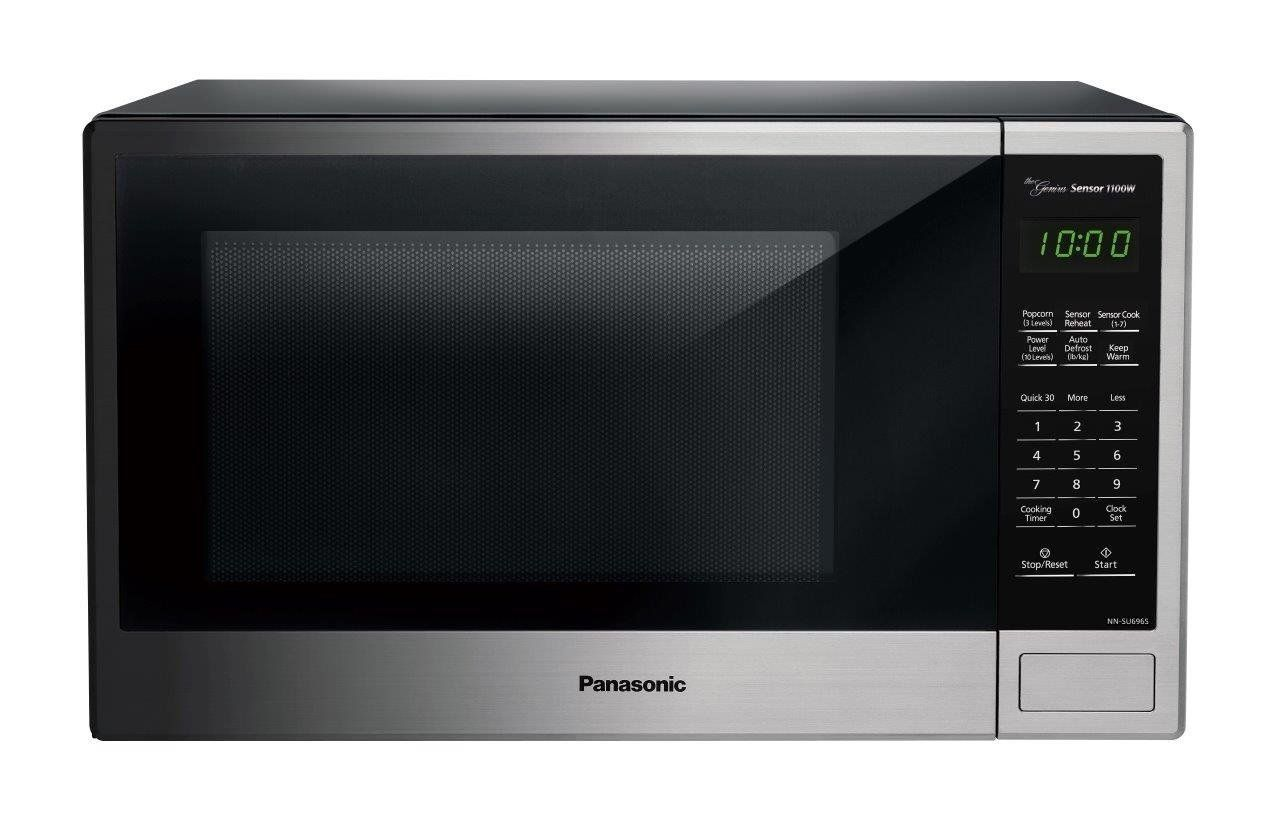 Panasonic Nn Su696s Countertop Microwave Oven With Genius Cooking Sensor And Popcorn Bu With Images Countertop Microwave Oven Panasonic Microwave Oven Countertop Microwave