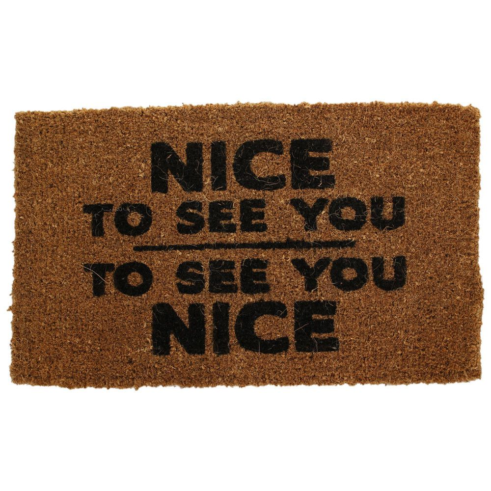 Door Mat Nice To See You From Manifesto