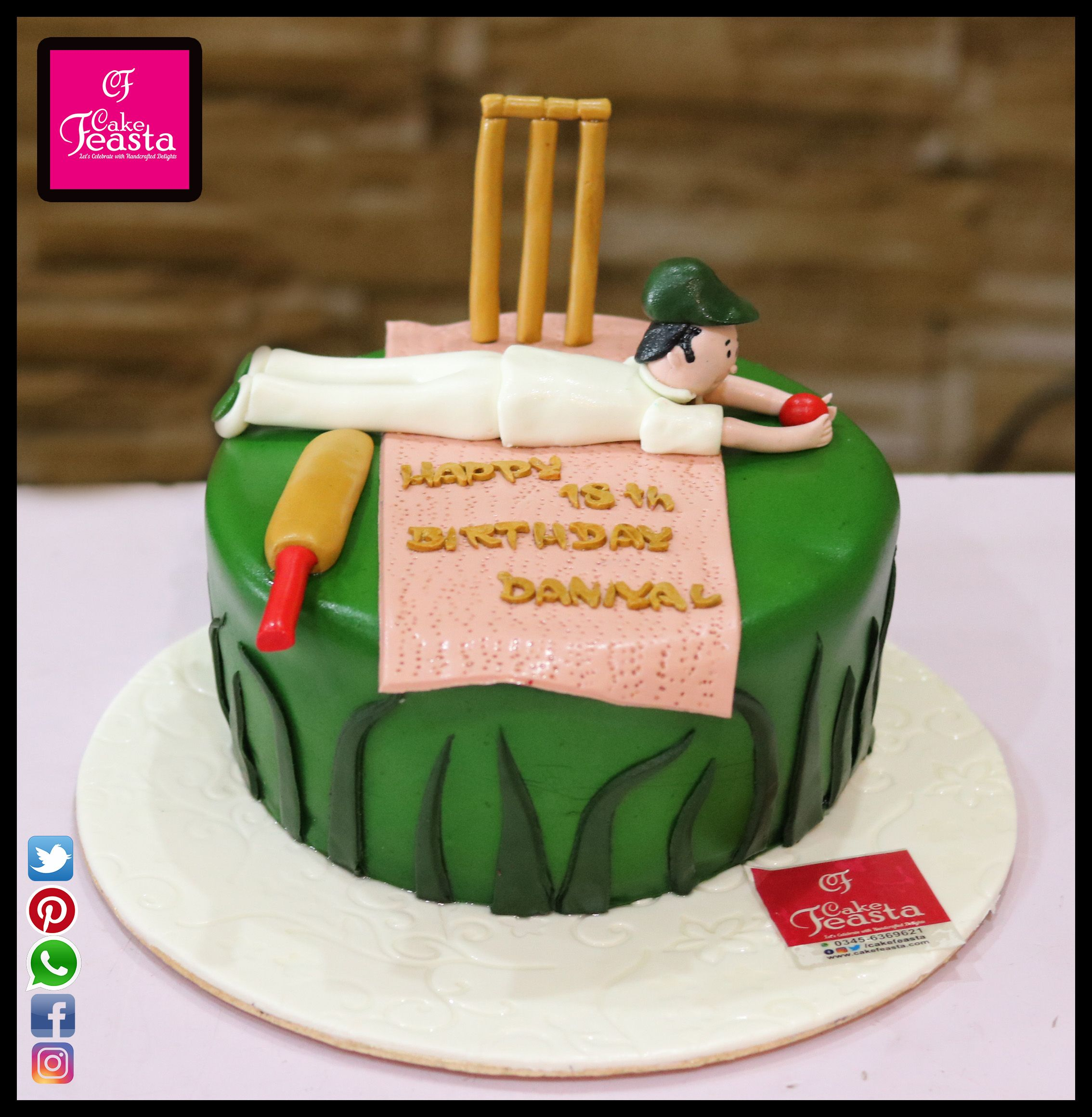 Cricket Lovers Birthday Cake For Order 2 or more than 2