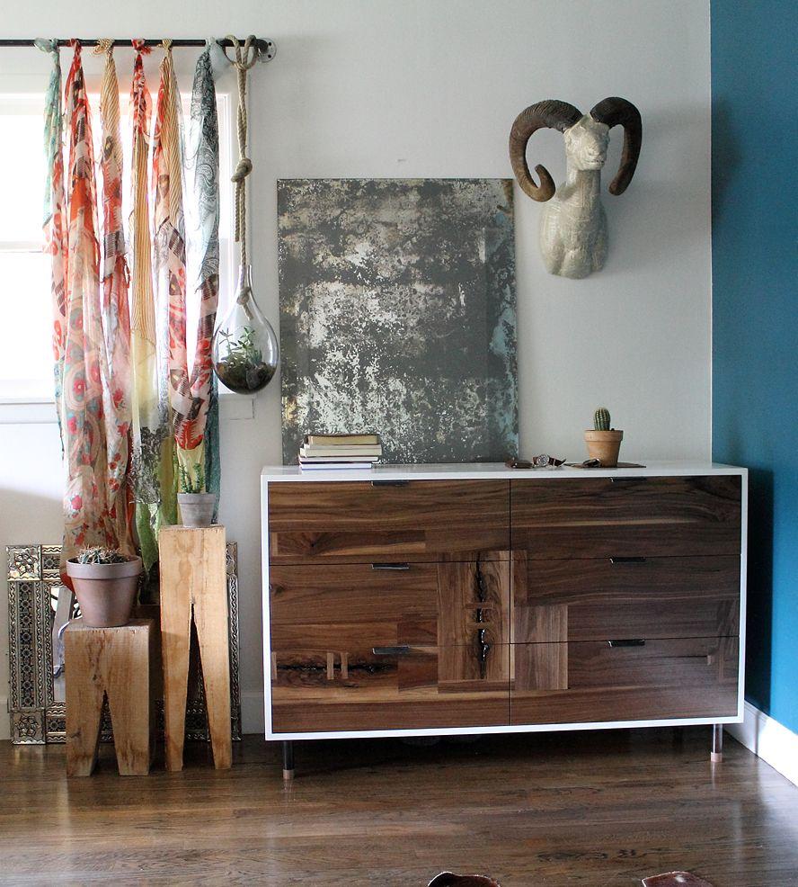 Walnut Patchwork Dresser