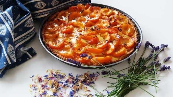 provenzalische Aprikosen - Tarte mit Lavendelblüten und Honig - Powered by @ultimaterecipe