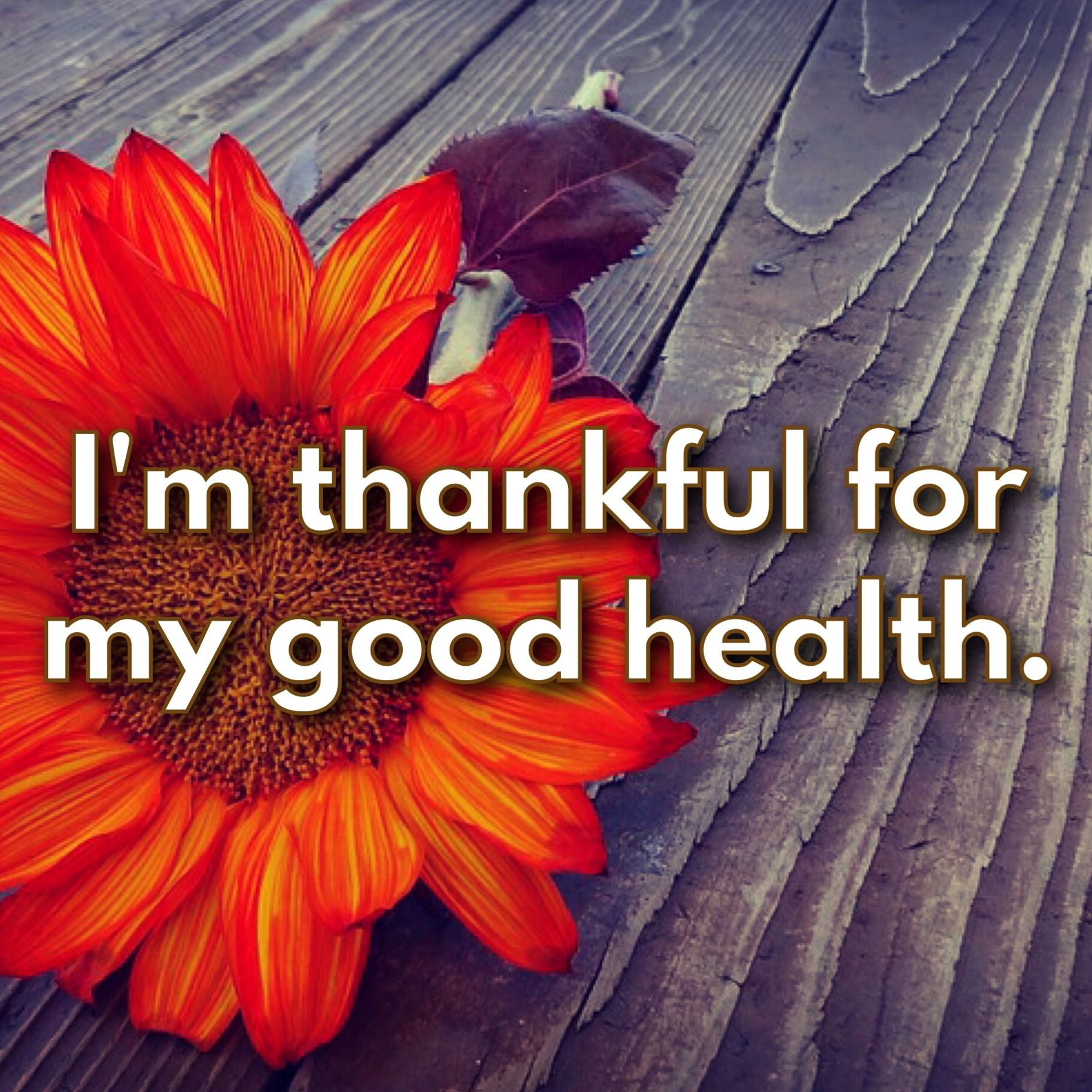 I'm so very thankful every day for my good health! I know it's a blessing and I don't take it for granted.