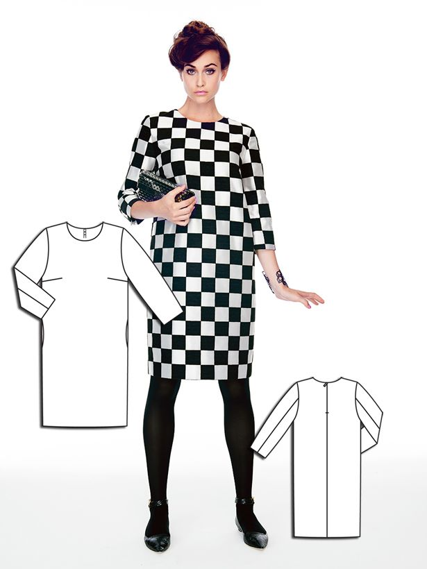 Mod Square: 8 New Black and White Sewing Patterns | Kleidung nähen ...