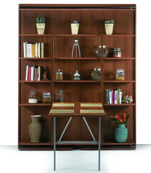 Revolving Bookcase Table Down Wonderful To Have That A Functional E When The Bed Is