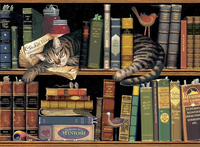CHARLES WYSOCKI MAX IN THE STACKS AMERICANA ART