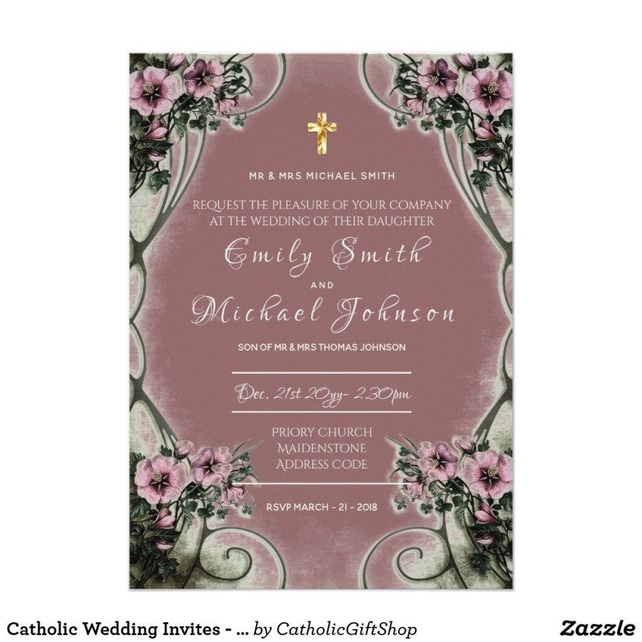 30+ Exclusive Image Of Catholic Wedding Invitations (With