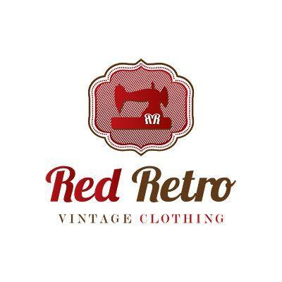 Red Retro Vintage Clothing Logo Clothing Logo Clothing Logo Design Vintage Outfits