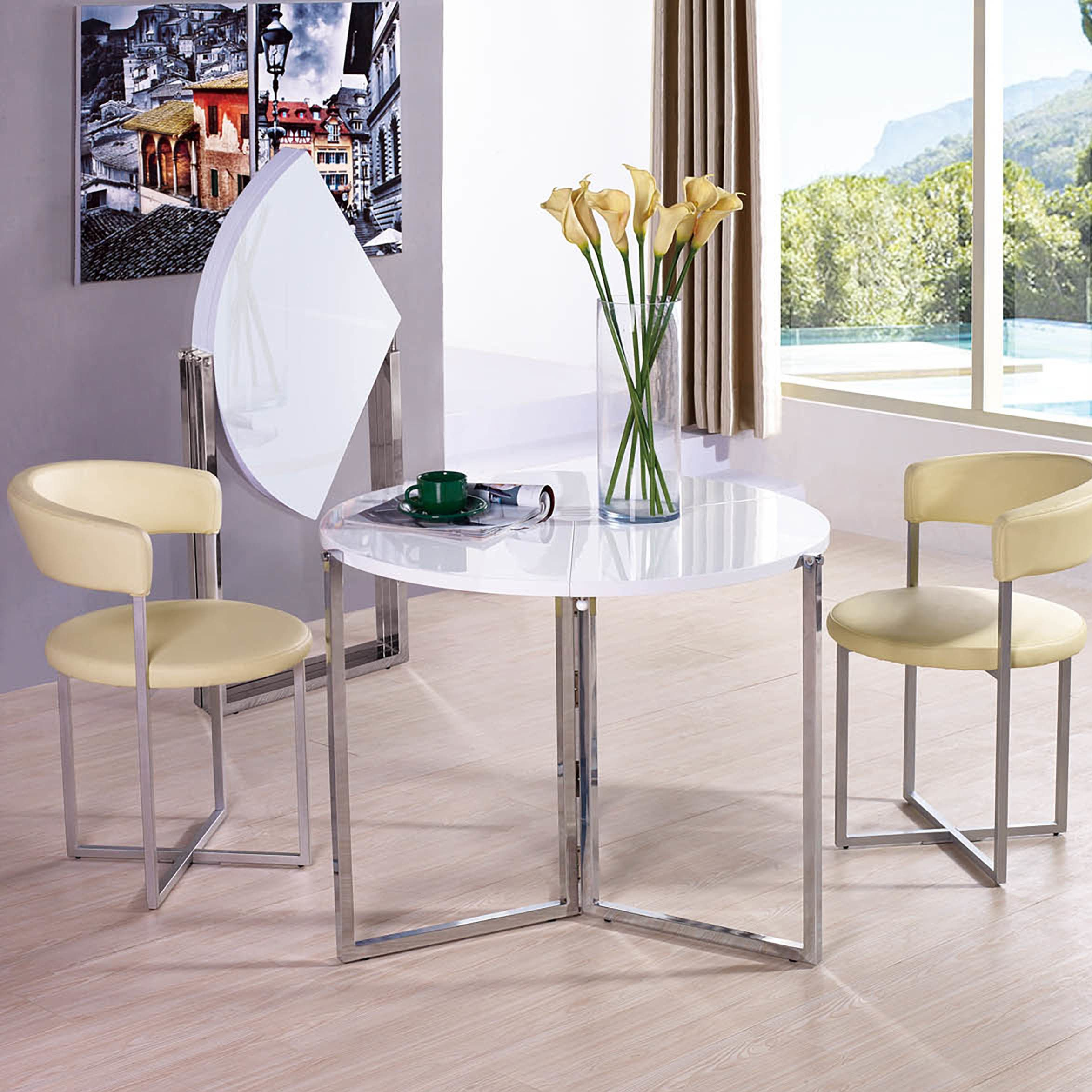 Radiant Circular Folding Table  Folding Tables And Corner Extraordinary Corner Dining Room Furniture Inspiration Design