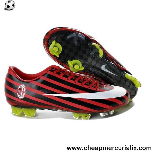 Latest Listing Cheap Nike Mercurial Vapor Superfly III FG AC Milan red  black white Soccer Boots