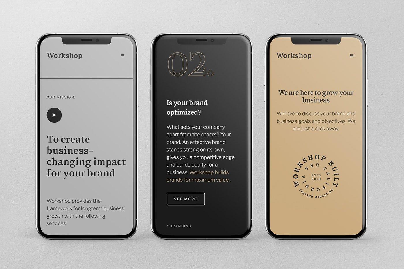 Workshop Built Inc. Branding - Mindsparkle Mag #interfacedesign