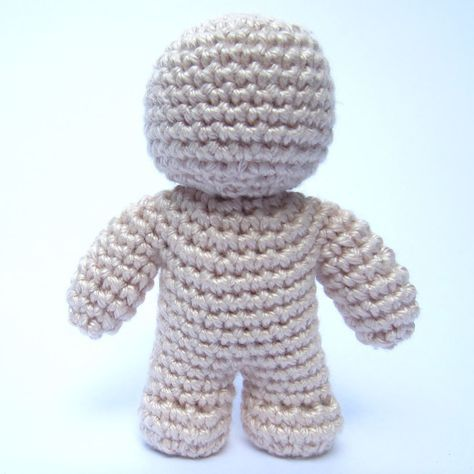Crochet Doll Featured Image - crocheted as 1 piece... no sewing on ...