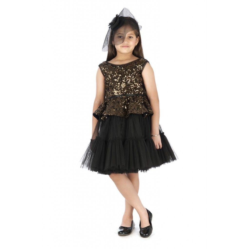 Buy online #Noir sequins dress from #Kidology. Designer #kids wear ...