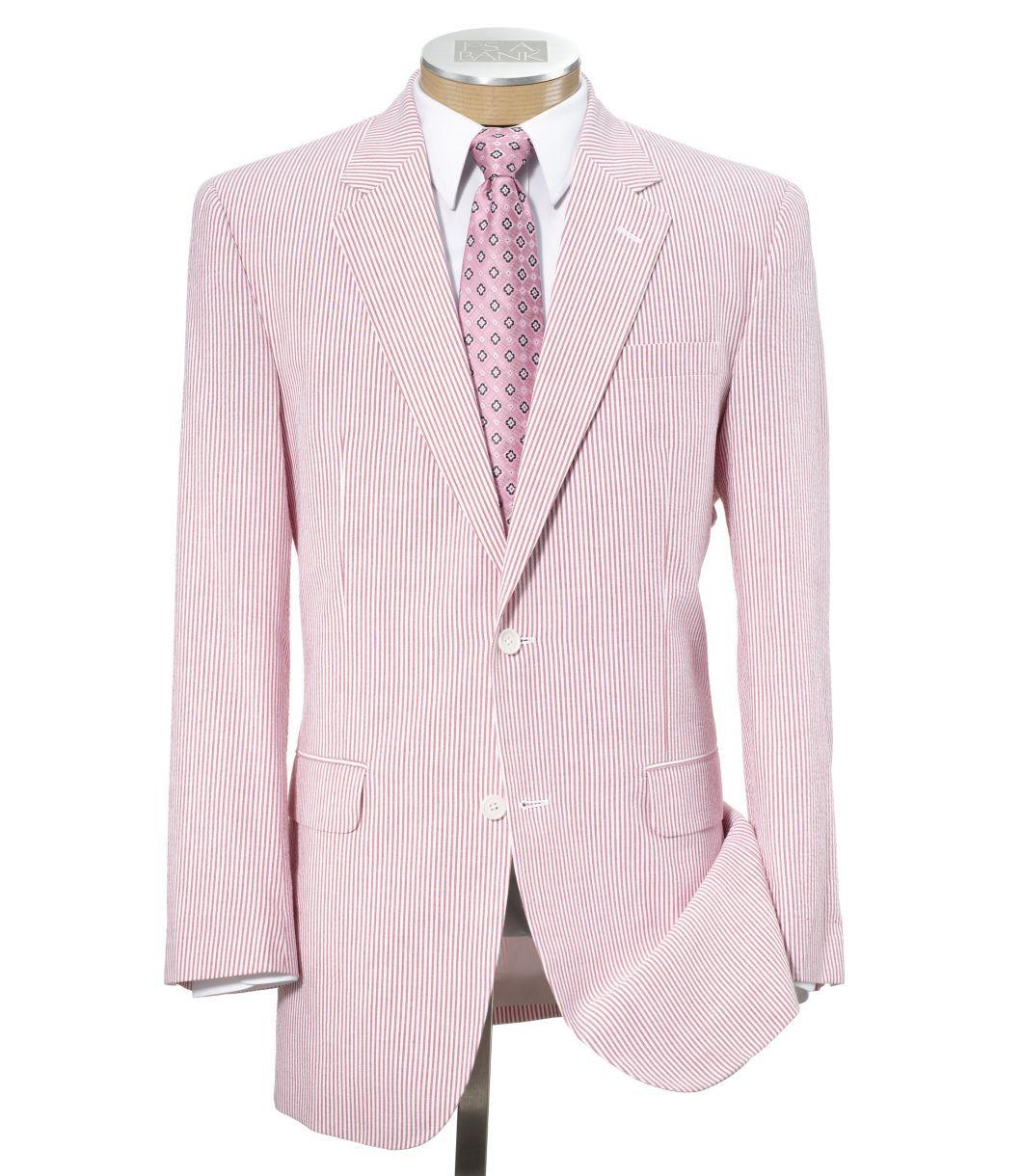 JoS. A. Bank Pink Seersucker Suit  f700294976c